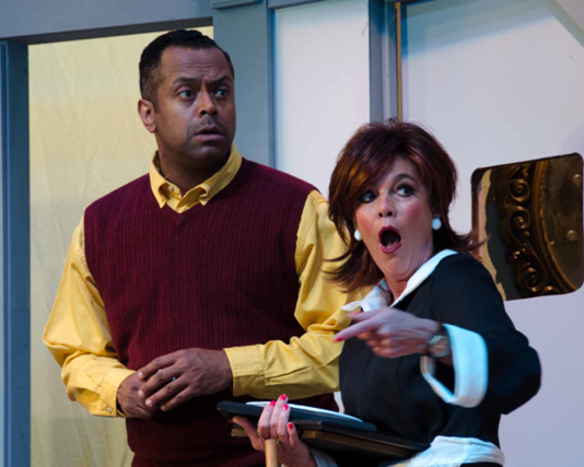 Patrick Doneghy (Robert) and Margaret Bush (Bertha) - Photo credit Doug Olmsted