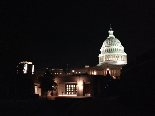 Evening at the US Capital Visitors Center