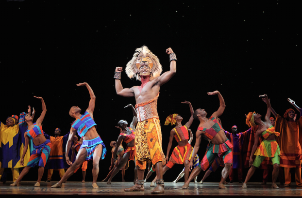 Jordan A. Hall as ³Simba² and the ensemble in ³He Lives in You² from THE LION KING National Tour. Copyright Disney.  Photo Credit  Joan Marcus
