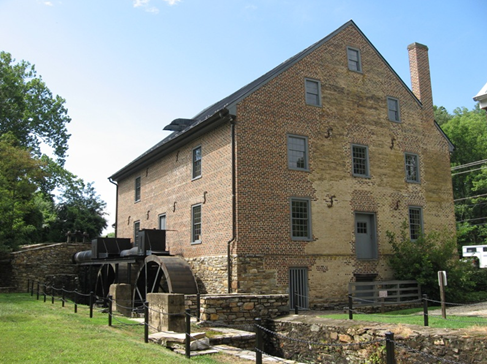 The restored Aldie Mill