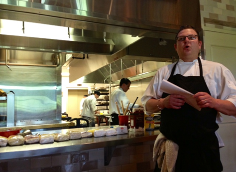 Chef Edwards teaching the Gluten-Free cooking class