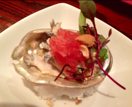Tahitian Abalone Ceviche by Chef Guillermo Pernot