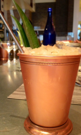 Peach Julep at America Eats Tavern