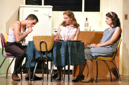 Camden Michael Gonzalez (Stanley), Jennifer Berry (Blanche) and Anna Fagan (Stella) - Photo credit Matthew Randall