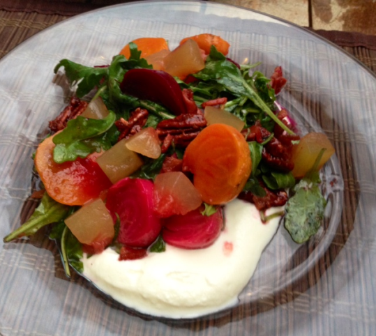 Beet salad from Chef Brian McPherson