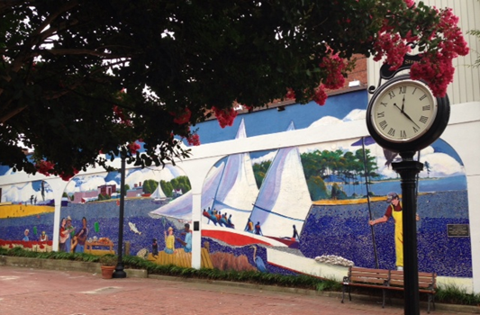 Cambridge city mural