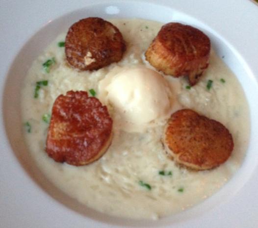 Seared Scallops with Coconut Risotto at Maple Avenue Restaurant
