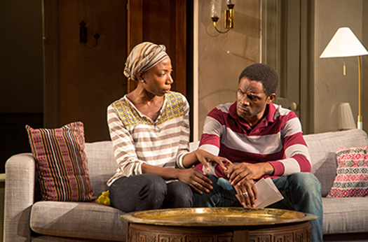 Joy Jones (Amina) and Maduka Steady (Alioune) in Belleville. Photo: Igor Dmitry.