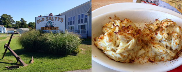 Old Salty's on Fishing Creek & Old Salty's killer all-crab crab cakes