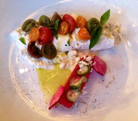 Tomato Basil Salad at Station 4