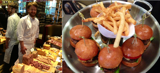 The splendid charcuterie // The popular Maryland crab topped burgers at DBGB
