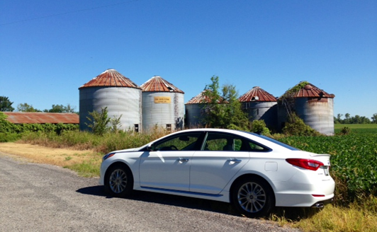 Driving Old Highway 61 in the new turbo-charged Hyundai Sonata