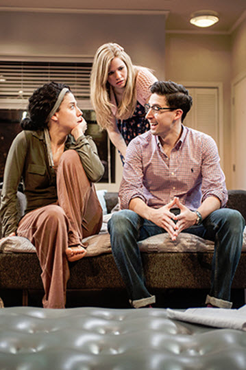 Irene Sofia Lucio (Daphna), Maggie Erwin (Melody), and Alex Mandell (Liam). Photo: Teddy Wolff.