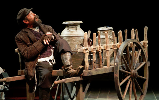 Jonathan Hadary as Tevye in Fiddler on the Roof.  Photo by Margot Schulman.