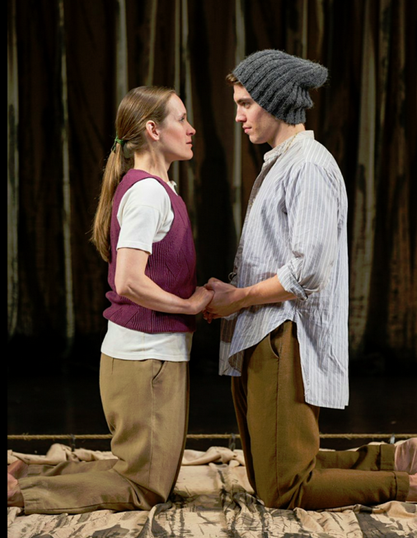 Zoë Waites as Rosalind and Andrew Veenstra as Orlando in the Shakespeare Theatre Company production of William Shakespeare's As You Like It, directed by Michael Attenborough. Photo by Scott Suchman.