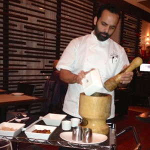Mio Executive Chef, Roberto Hernandez makes the mofungo tableside