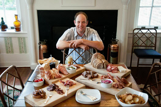 Ben Thompson of The Rock Barn with assorted charcuterie
