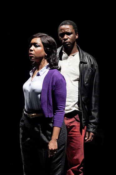 (L to R) Jessica Frances Dukes as Tonya and Bowman Wright as King in King Hedley II - Photo by C. Stanley Photography