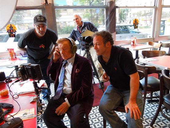 Director Erik Greenberg Anjou and crew