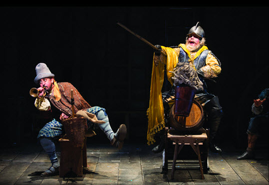 Anthony Warlow as Don Quixote in the Shakespeare Theatre Company's production of Man of La Mancha, directed by Alan Paul. Photo by Scott Suchman.