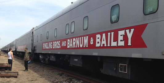The Ringling Bros. and Barnum and Bailey Circus Train.