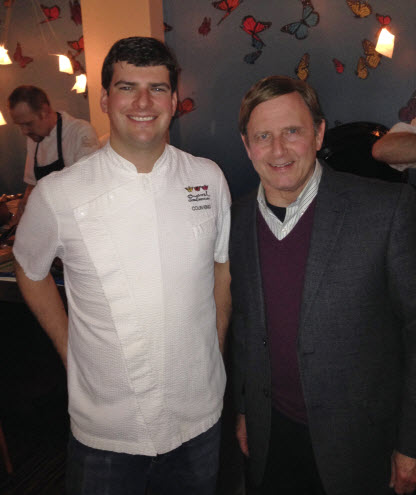 Executive Chef Colin King with Cary Pollak