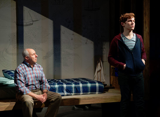 Christopher Bloch (Joseph) and Jake Winn (Luke) in Kid Victory - Photo by Margot Schulman.