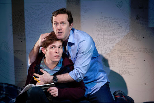 Jake Winn (Luke) and Jeffry Denman (Michael) in Kid Victory - Photo by Margot Schulman.