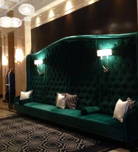 The pretty new lobby at the Sofitel