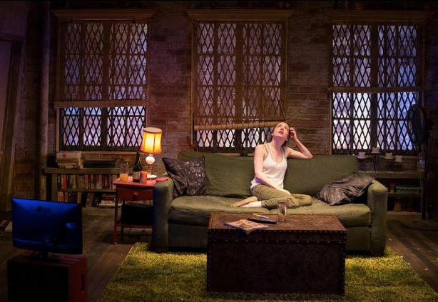 Jessica Hershberg (Charlie) in Soon at Signature Theatre. Photo by Teresa Wood