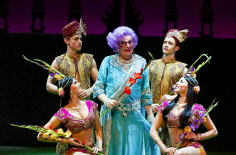 Dame Edna and Bollywood Dancers - Photo credit Craig Schwartz