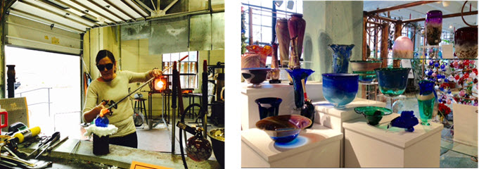 Glass blowing - Artisan works at Sunspot Studios