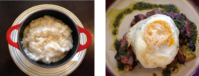Creamy Heirloom Grits and Wagyu Beef at The Shack