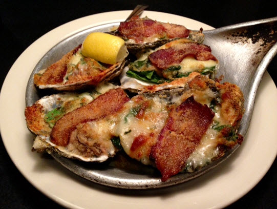 Oysters Rockefeller at the Mill Street Grill