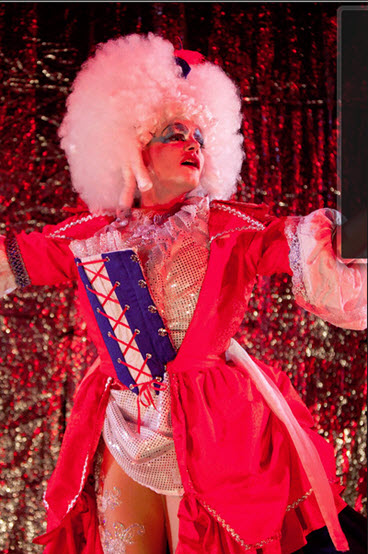 Alex Mills as his character Jerry's Drag persona, Betty-May. Photo by Koko Lanham