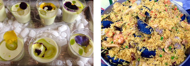 Cream of Artichoke Soup by Casa Luca / Seafood Paella from Casa Luca at the AC Hotel