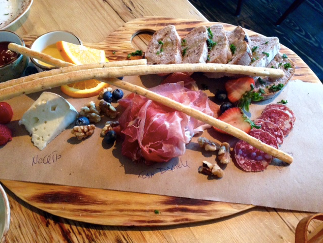An assortment of salumi at Lupo Verde