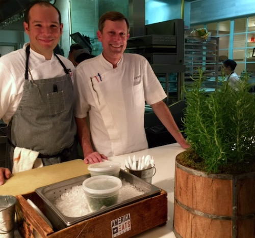 Head Chef Nate Waugaman (left) with Executive Chef Joe Raffa