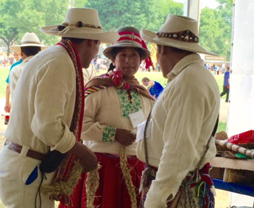 Peruvian artisans at the Smithsonian Folk Life Festival