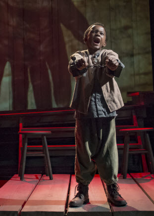 Little Freddie, played by Jeremiah Hasty - Photo credit: Chris Banks