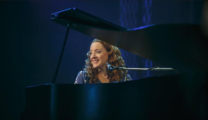 "Carnegie Hall. Abby Mueller (""Carole King""). Photo by Joan Marcus"
