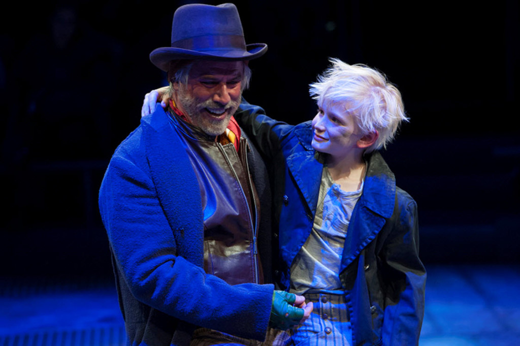 (L-R) Jeff McCarthy as Fagin and Jake Heston Miller as Oliver in Oliver! at Arena Stage at the Mead CenterPhoto by Margot Schulman.
