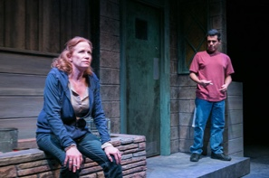 (L-R) Johanna Day as Tracey and Reza Salazar as Oscar. Photo by C. Stanley Photography.