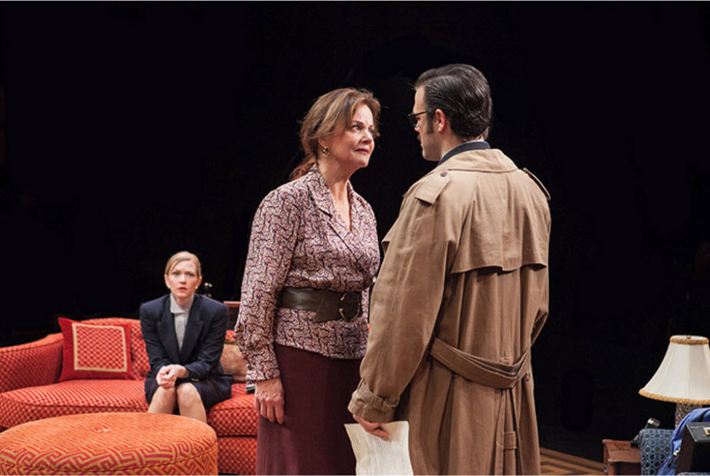 (L-R) Caroline Hewitt as Anna Fitzgerald, Margaret Colin as Hester Ferris and Michael Simpson as Colin Ferris. Photo by C. Stanley Photography.