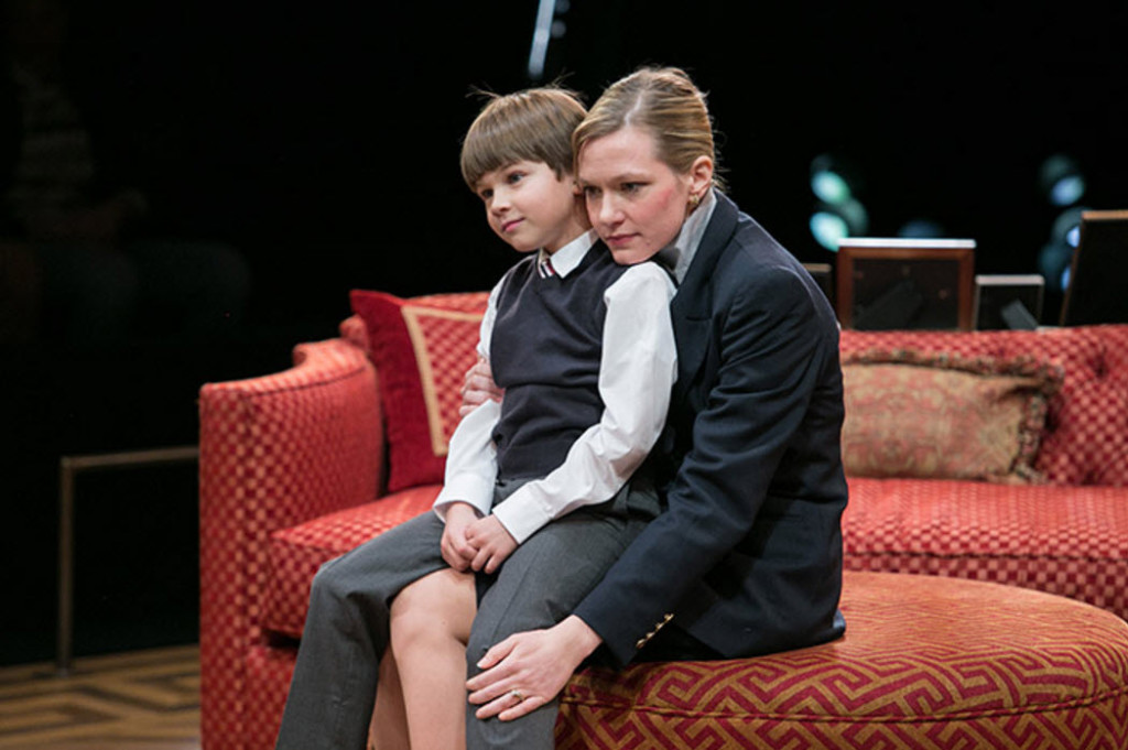 (L-R) Tyler Smallwood as Young Ethan and Caroline Hewitt as Anna Fitzgerald. Photo by C. Stanley Photography.
