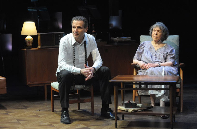 Paul Morella as Joel and Barbara Rappaport as Bella in After the War at Mosaic Theater Company of DC, March 24-April 17, 2016. Photo by Stan Barouh.