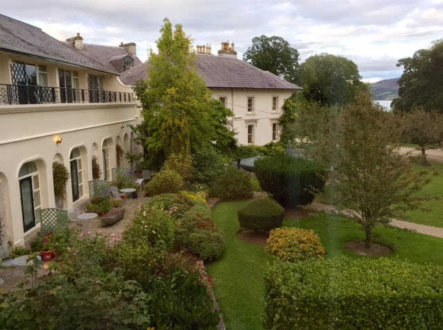 A view of the gardens at Rathmullan House