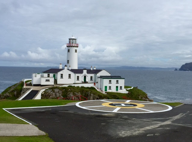 The Fanad Lighthouse and heliport