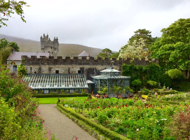 The walled gardens and greenhouses of Glenveagh Castle
