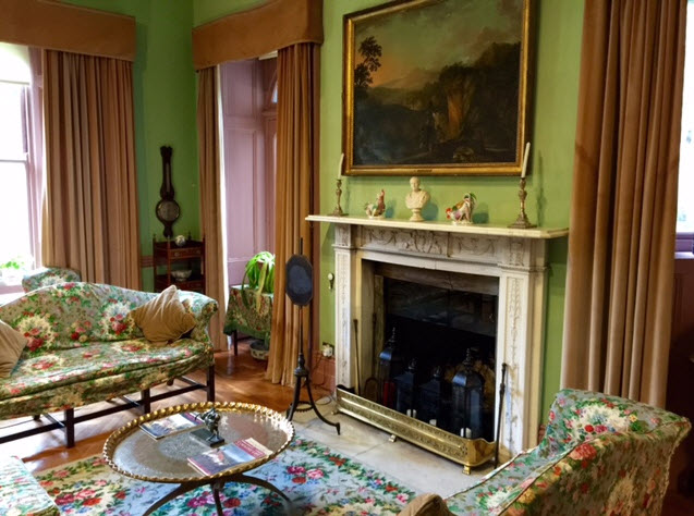 One of the drawing rooms at Glenveagh Castle